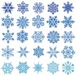 Set of vectors snowflakes - Stock Vector