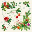 Christmas corners - Stock Vector