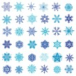 Set of vector snowflakes — Stock Vector #13247060