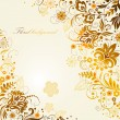 Ornate floral background - Stock Vector