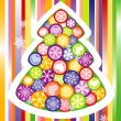 Holiday cards with Christmas tree - Stock Vector