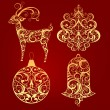 Decorative elements for Christmas design - Stock Vector