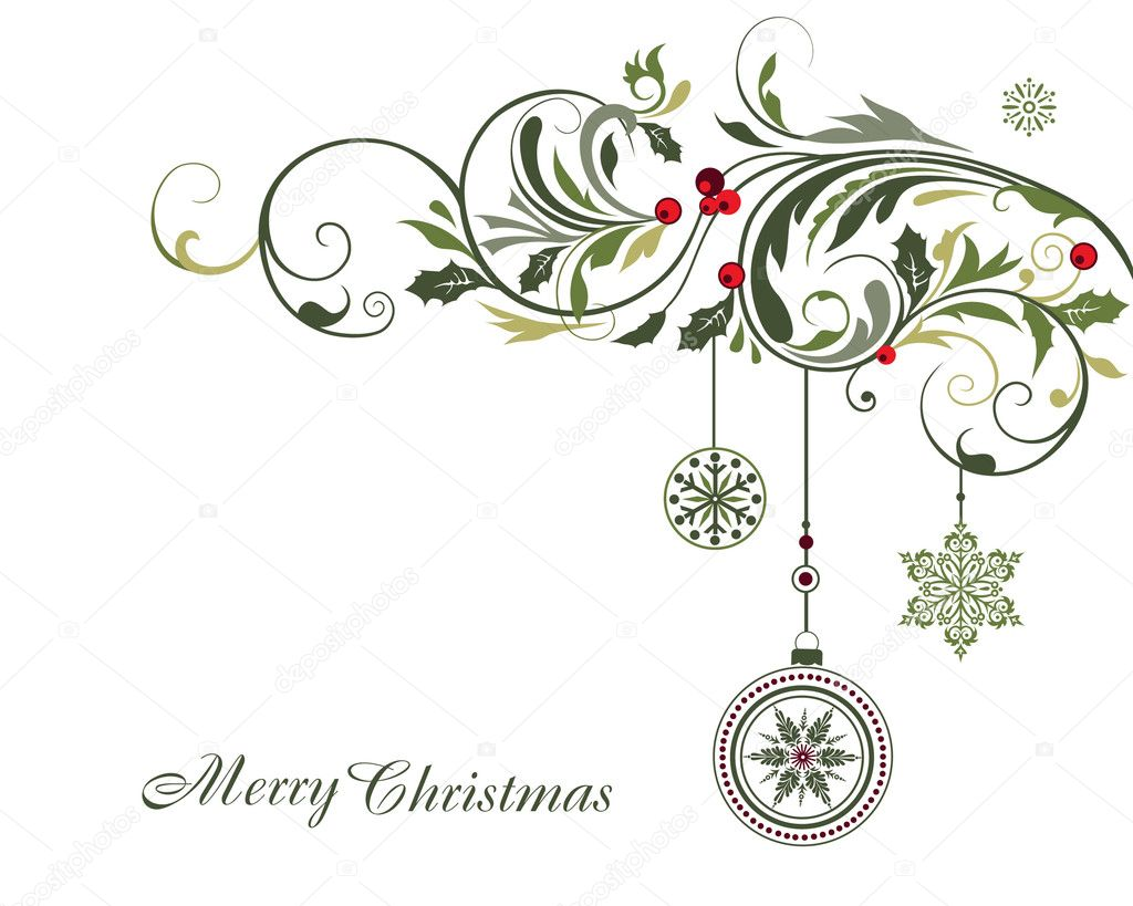 Christmas background  Stock vektor #13336785