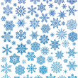 Set of 72 snowflakes - Stock Vector