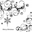 Monochrome Christmas card - Stock Vector