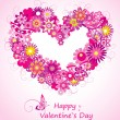 Stock Vector: Valentine`s day card