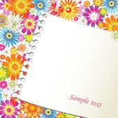 Papier auf Blumen Hintergrund — Stockvektor