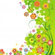 Spring flower background — Stock Vector