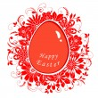 Easter card with eggs in flowers — Stockvectorbeeld