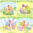 Royalty-Free Stock Vector Image: Set of Easter backgrounds