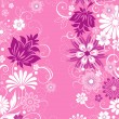 Pink background with flowers — Stock Vector