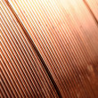 Closeup copper wire - Stock Photo