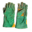 Green welding glove - Stock Photo
