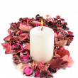 Beautiful spa candle — Stock Photo