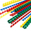 Stock Photo: Colorful ring binding spine