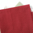 Stock Photo: Red fabric background