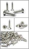 Satz von metallschrauben — Stockfoto
