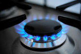 Blue flames — Stock Photo