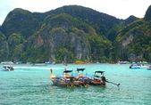 Long Tailed Boats — Stock Photo
