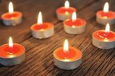 Group of burning candle — Foto Stock