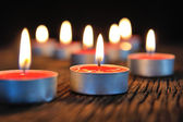 Group of burning candle — Foto de Stock