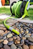 Watering garden hose — Stock Photo