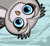 Cartoon funny owl — Stock Vector