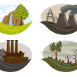 Royalty-Free Stock Vector Image: Global problem of pollution on the earth.