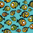 Seamless pattern with fish — Stock Vector #30633417