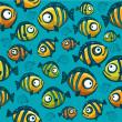 Fish wallpaper - seamless pattern — Stock Vector #30633453