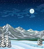 Winter landscape. — Stock Vector