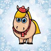 Cavalo dos desenhos animados. — Vetorial Stock