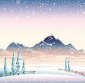 Winter landscape — Vettoriale Stock