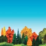Autum nature landscape. — Stock Vector #36316239