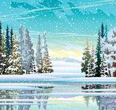 Paisaje de invierno — Vector de stock
