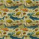 Pattern with underwater creatures. — Stock Vector #39747509