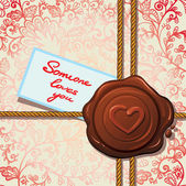 Pečeti se srdcem. karta Valentýna. — Stock vektor
