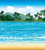Paysage tropical. — Vecteur