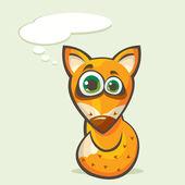 Cartoon fox. — Cтоковый вектор