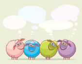 Cartoon sheeps. — Vecteur
