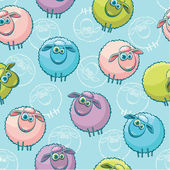 Seamless pattern with sheeps. — Stock vektor