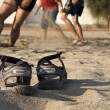 Beach volleyball, shoes — Stock Photo