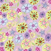 Embroidery of flowers — Stok Vektör