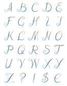 μπλε γράμματα, κύκλους — Διανυσματικό Αρχείο