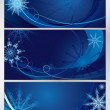Blue frosty pattern — Stock Vector