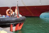 Ships at berth — Stock Photo
