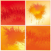 Set of the orange backgrounds — Stock Vector