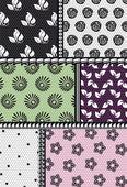 Tissu avec motif floral — Vecteur