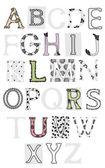 Verzameling van brieven, lace — Stockvector