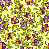 Pattern of multicolored flowers — Stock Vector